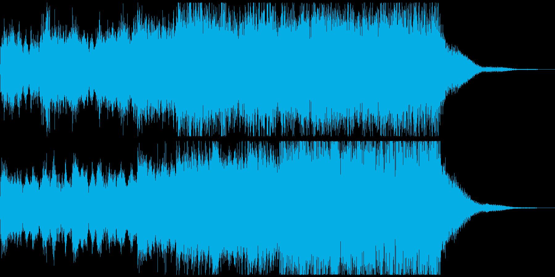 勝利、栄光をイメージしたファンファーレの再生済みの波形