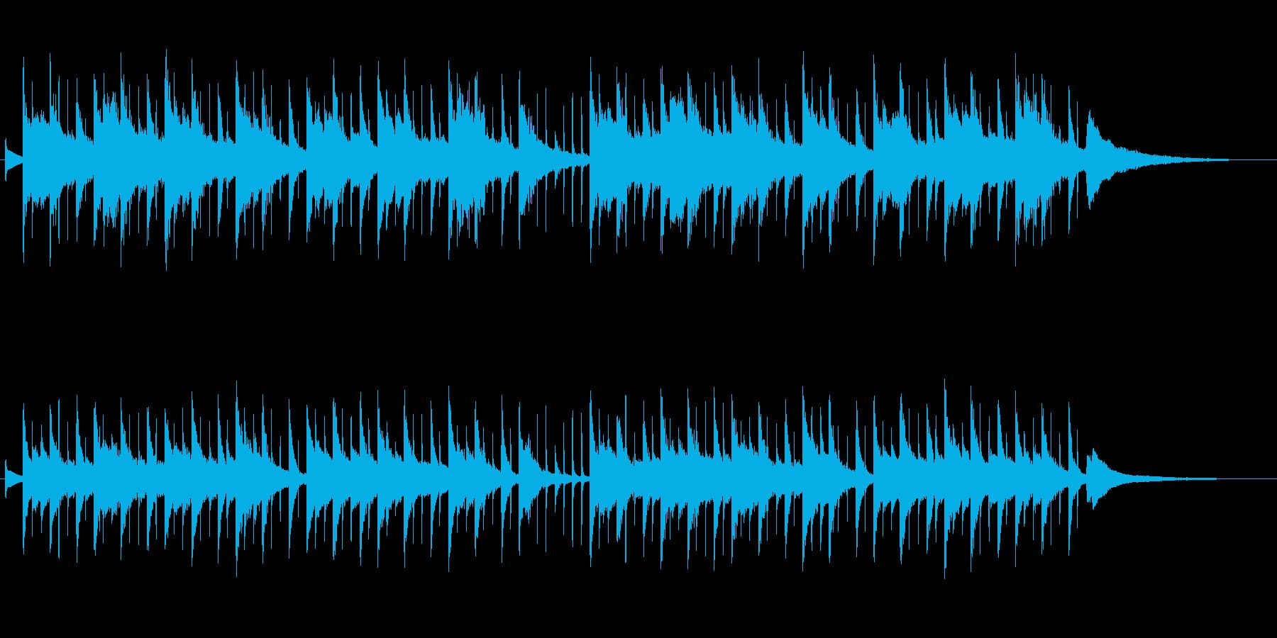 静かに流れるような、穏やかな曲の再生済みの波形