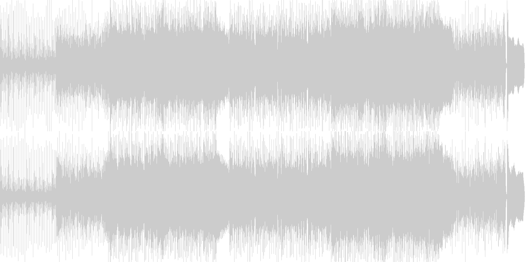 三味線とエレキギターの和風ロックな曲の未再生の波形