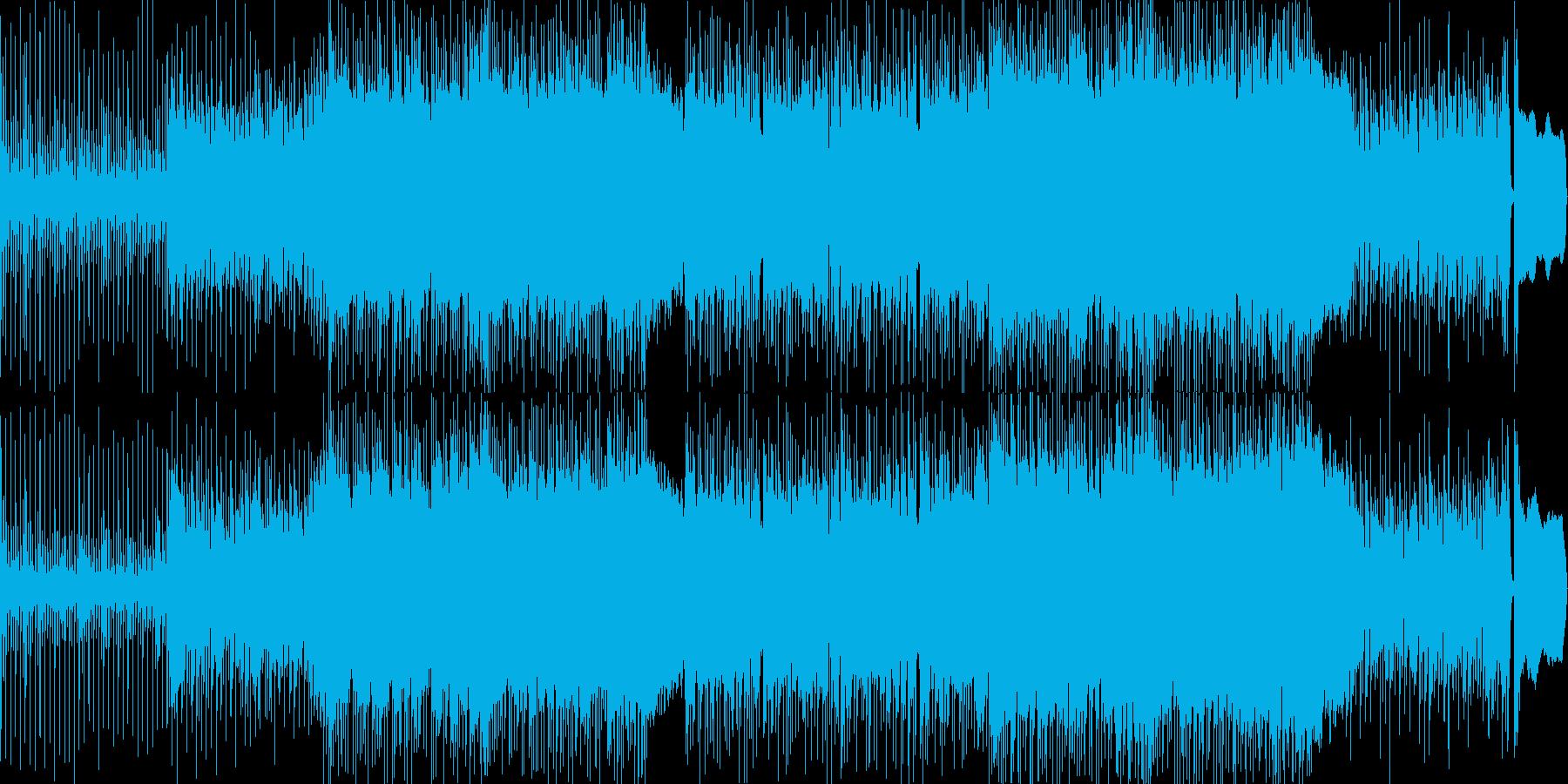 三味線とエレキギターの和風ロックな曲の再生済みの波形