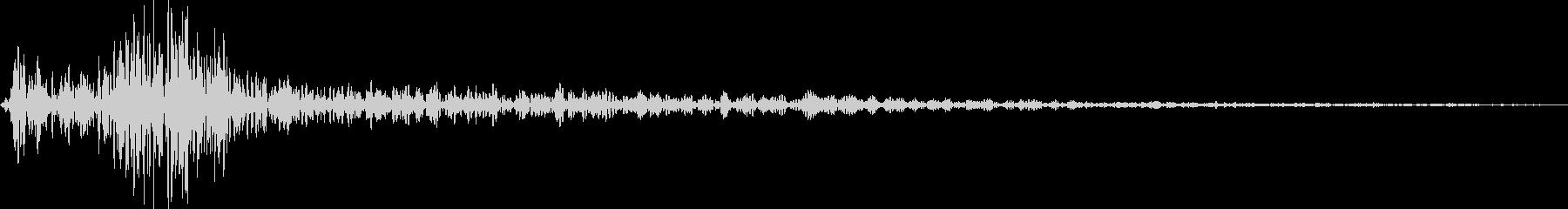 カジュアルなカーソル移動音「カン」の未再生の波形