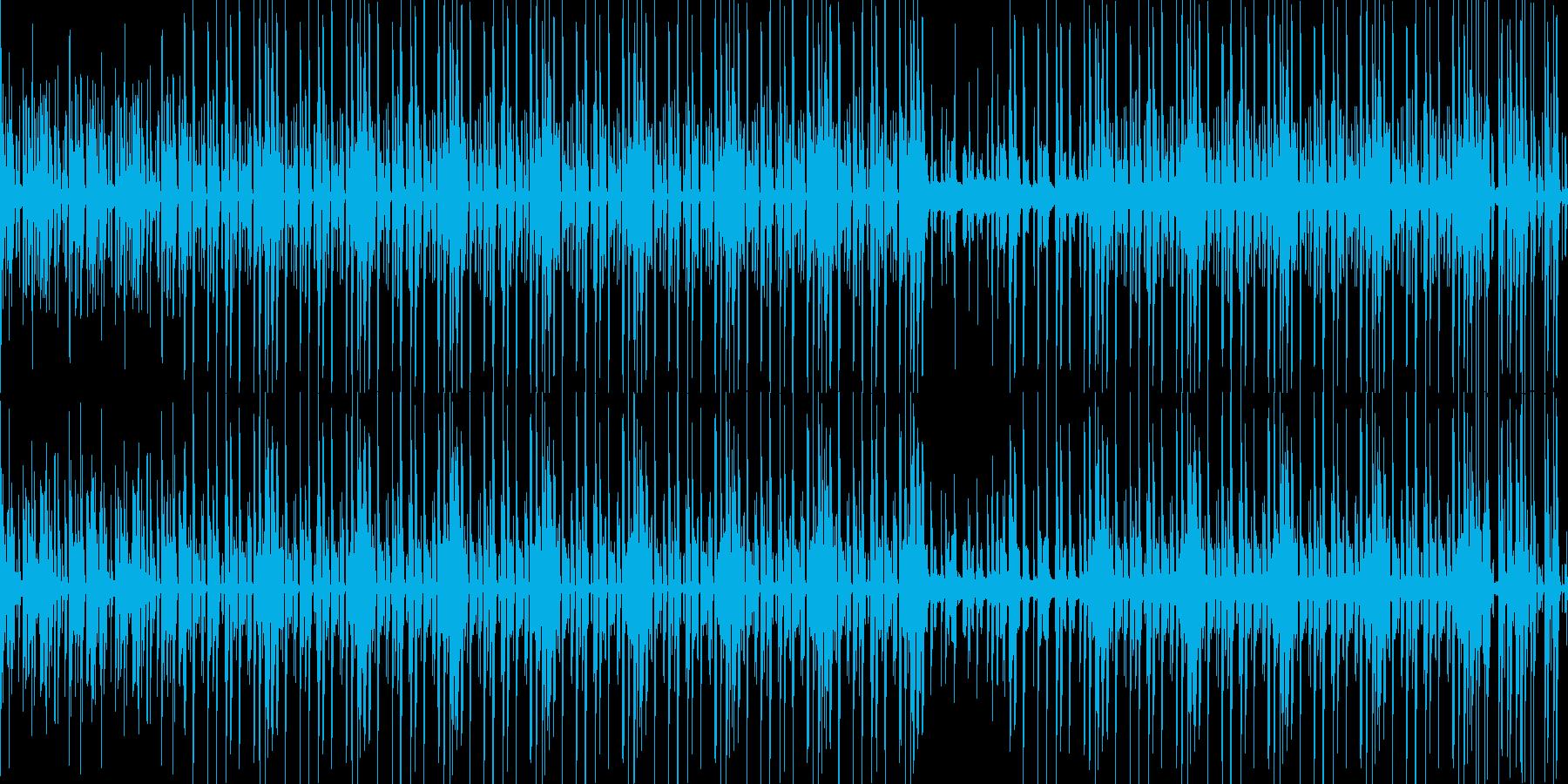科学番組をイメージした静かな曲の再生済みの波形