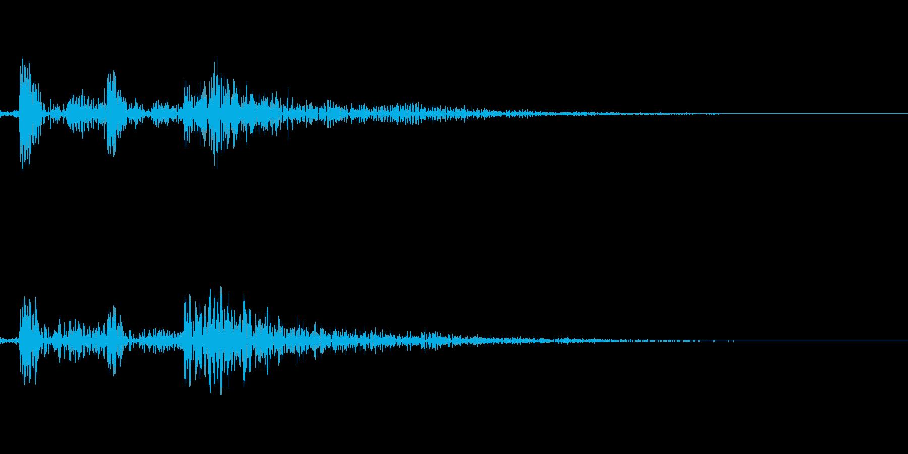 カチッの再生済みの波形