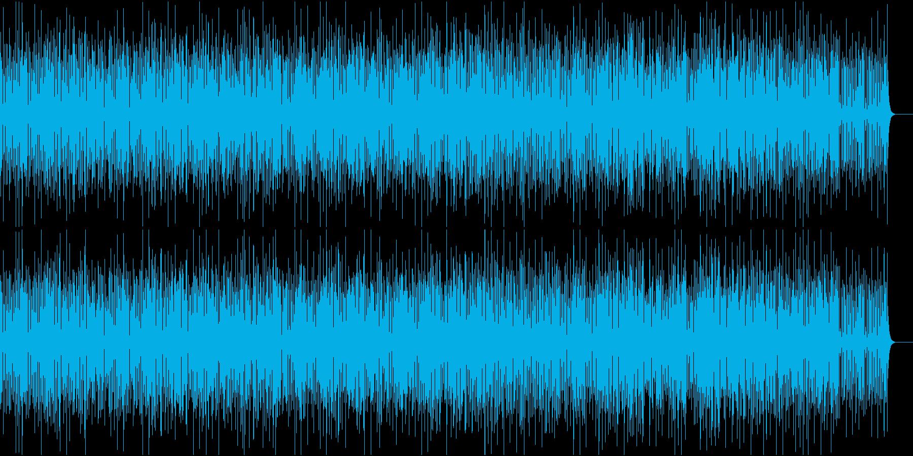 快活で賑やかなジャズの再生済みの波形