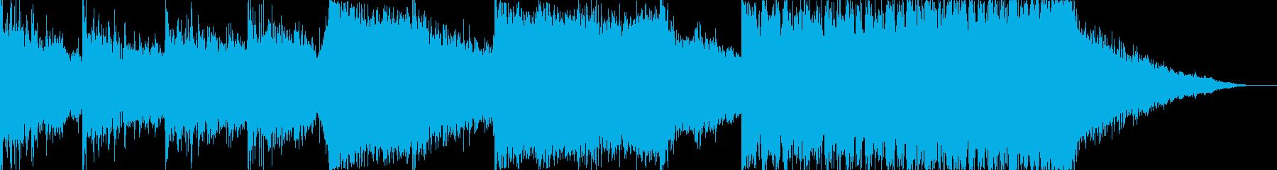 ヒーロー映画の予告トレーラー風のBGMの再生済みの波形