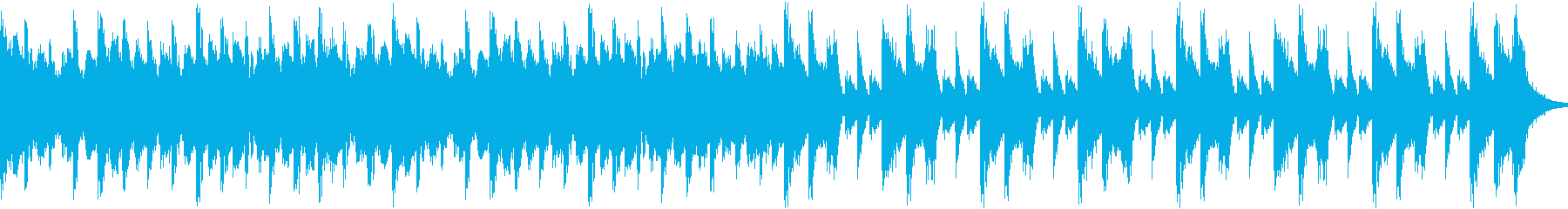 軽やかなシンセが印象的なスローテンポ曲の再生済みの波形