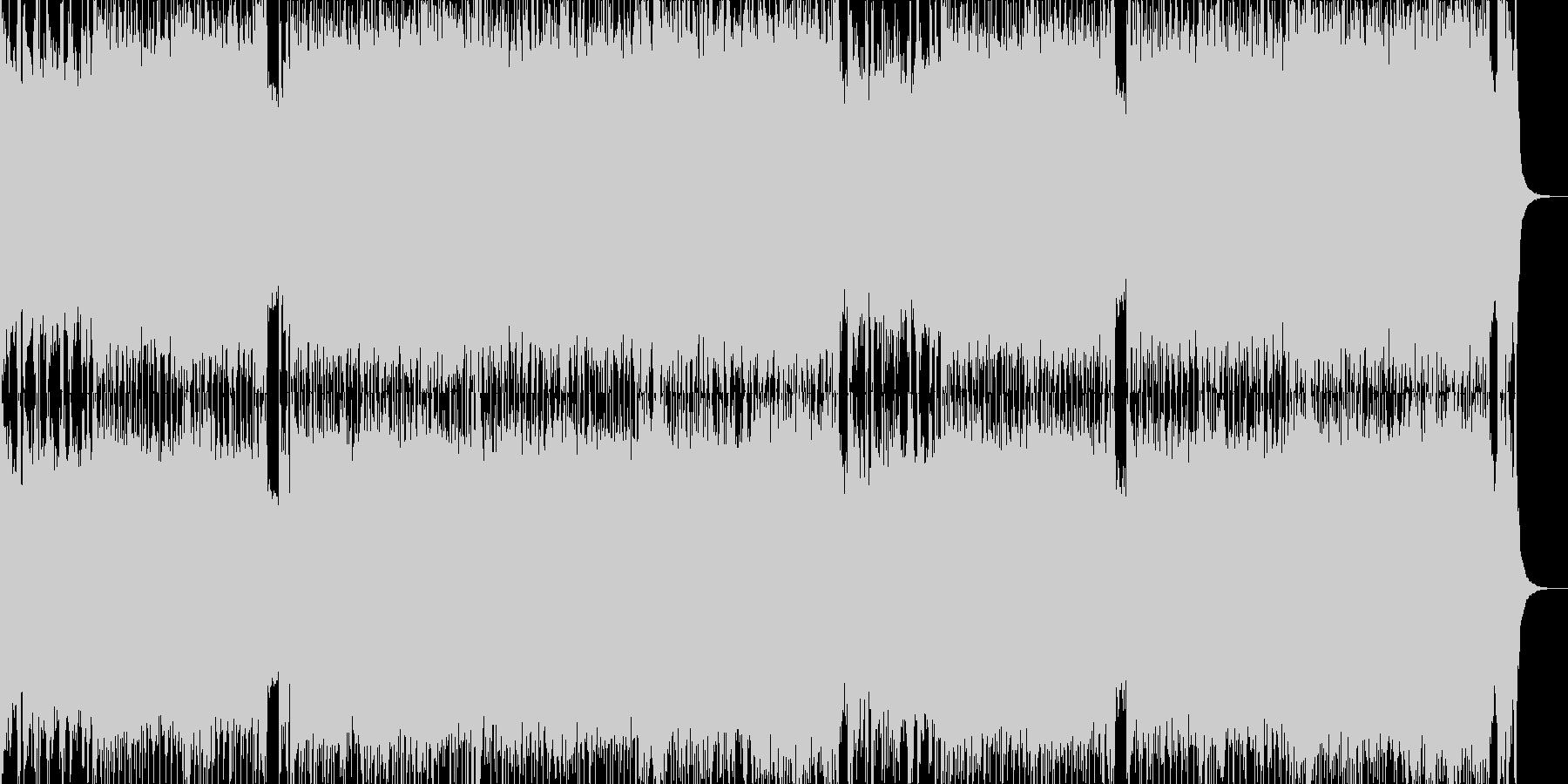 オープニングにぴったりなギターインストの未再生の波形