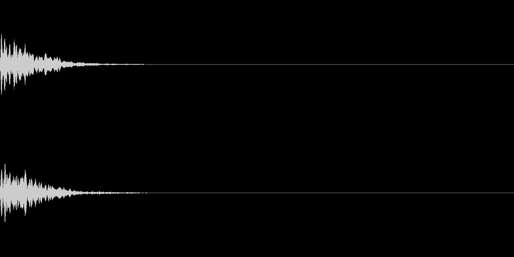 キラーン、キリーン(星、光、発光、決定)の未再生の波形