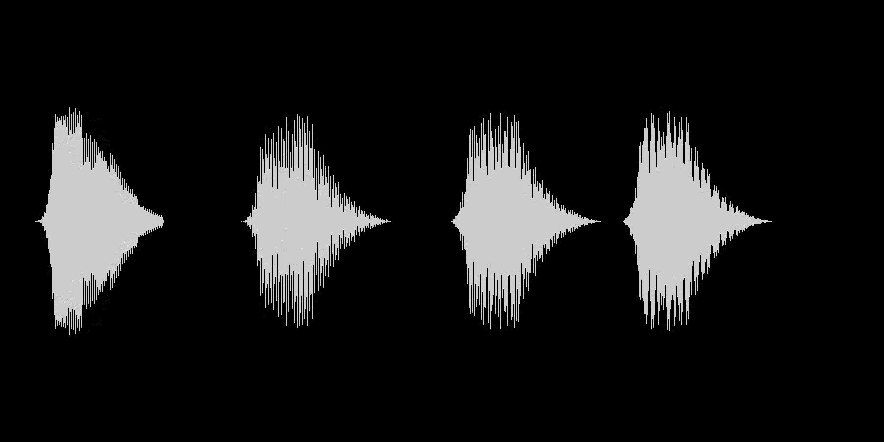 ファミコン風効果音 決定音系です 27の未再生の波形