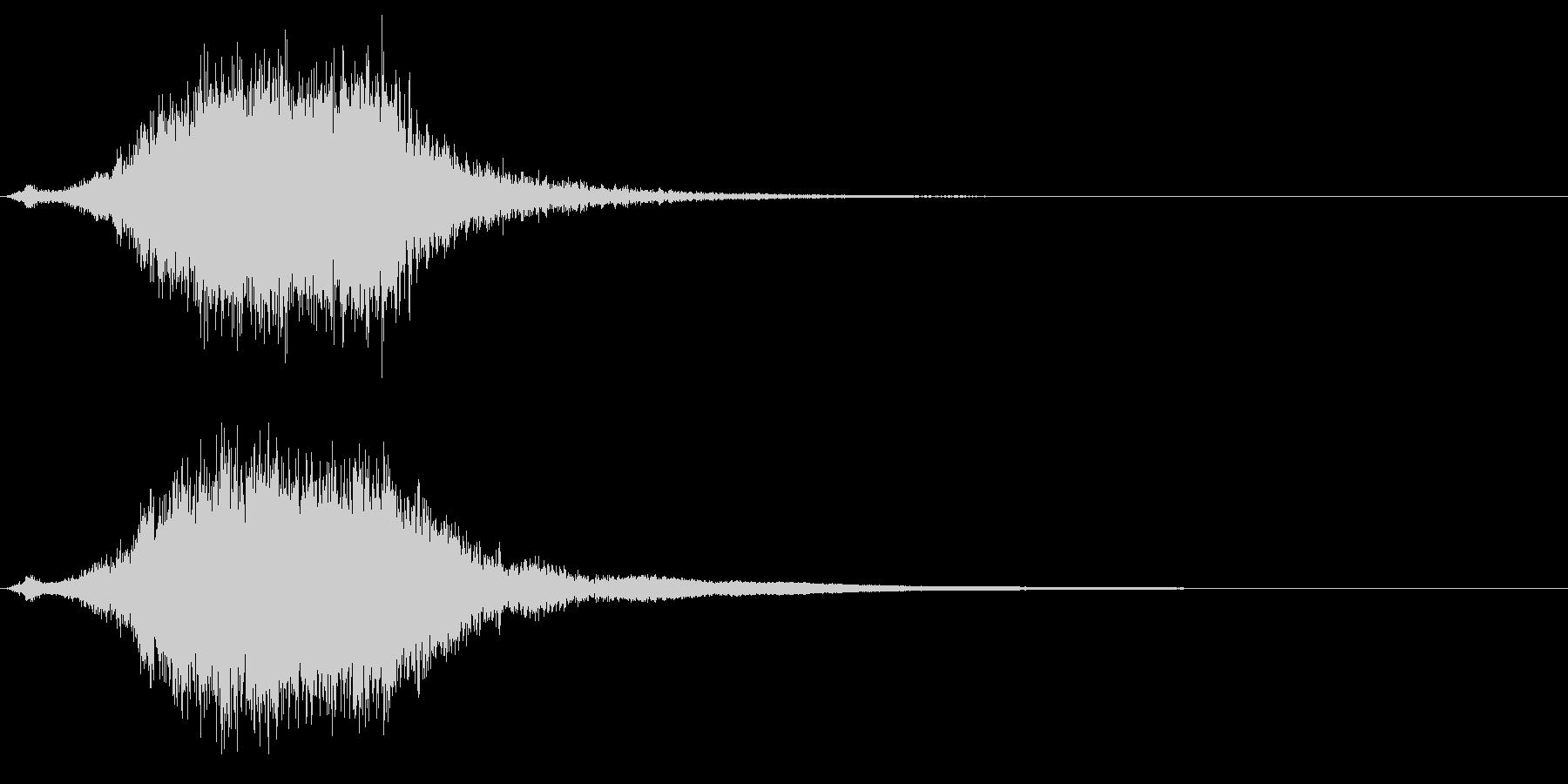 シャキーン☆剣を鞘から抜く音2 リバーブの未再生の波形