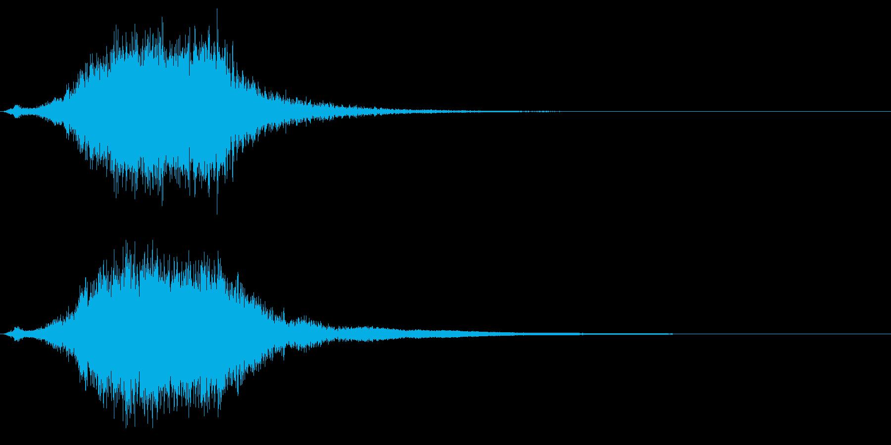 シャキーン☆剣を鞘から抜く音2 リバーブの再生済みの波形