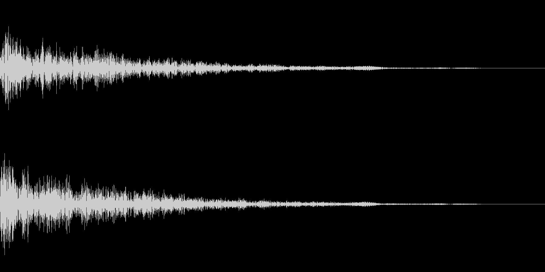 カーソル移動(カッ)の未再生の波形