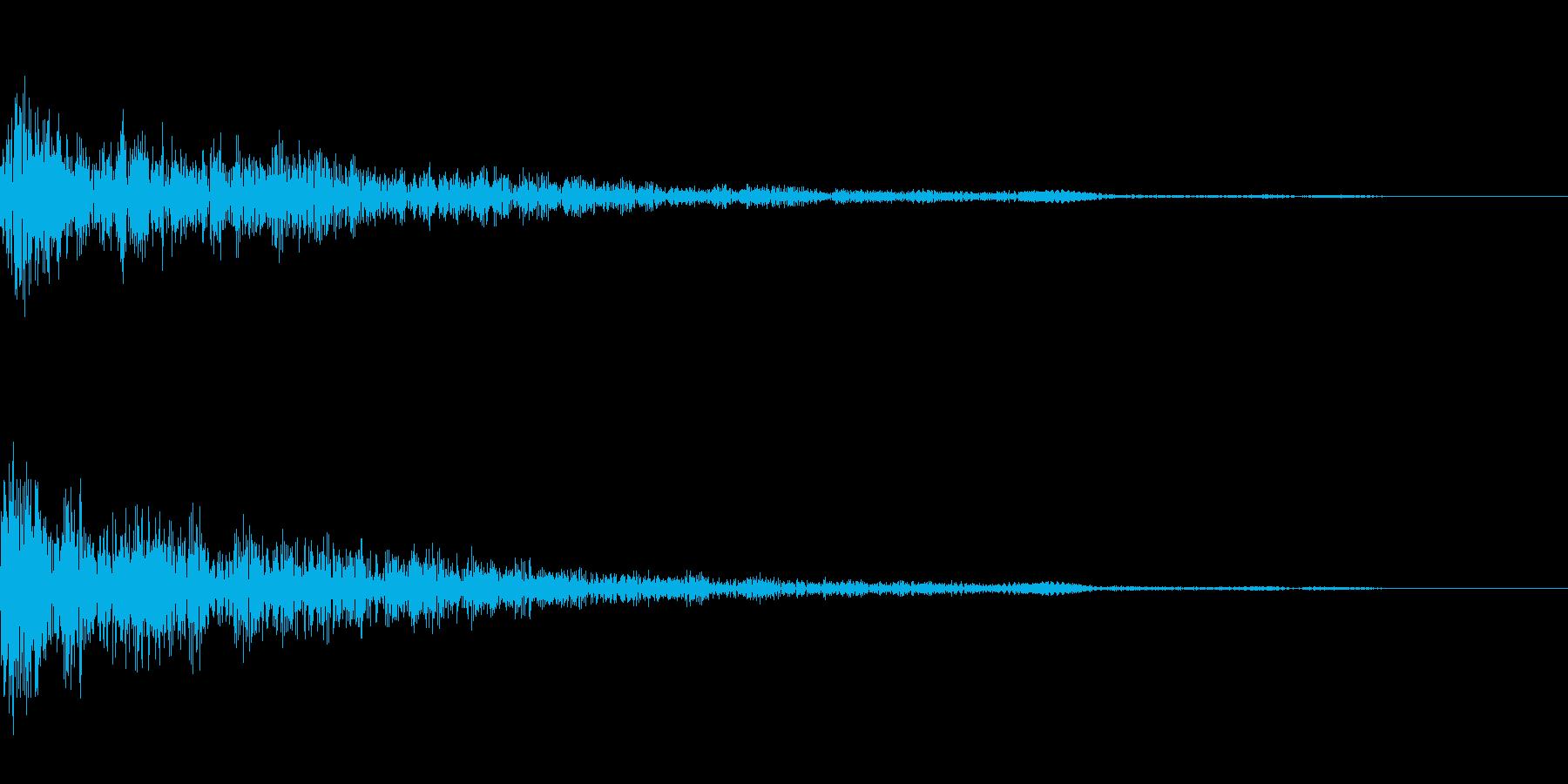 カーソル移動(カッ)の再生済みの波形