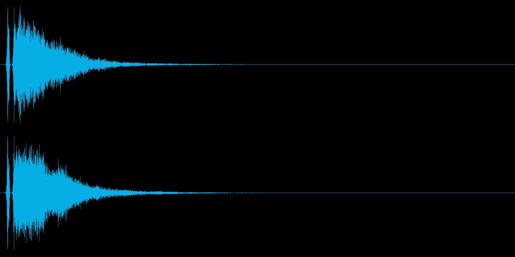 カンッ(金属を叩いたような音)の再生済みの波形