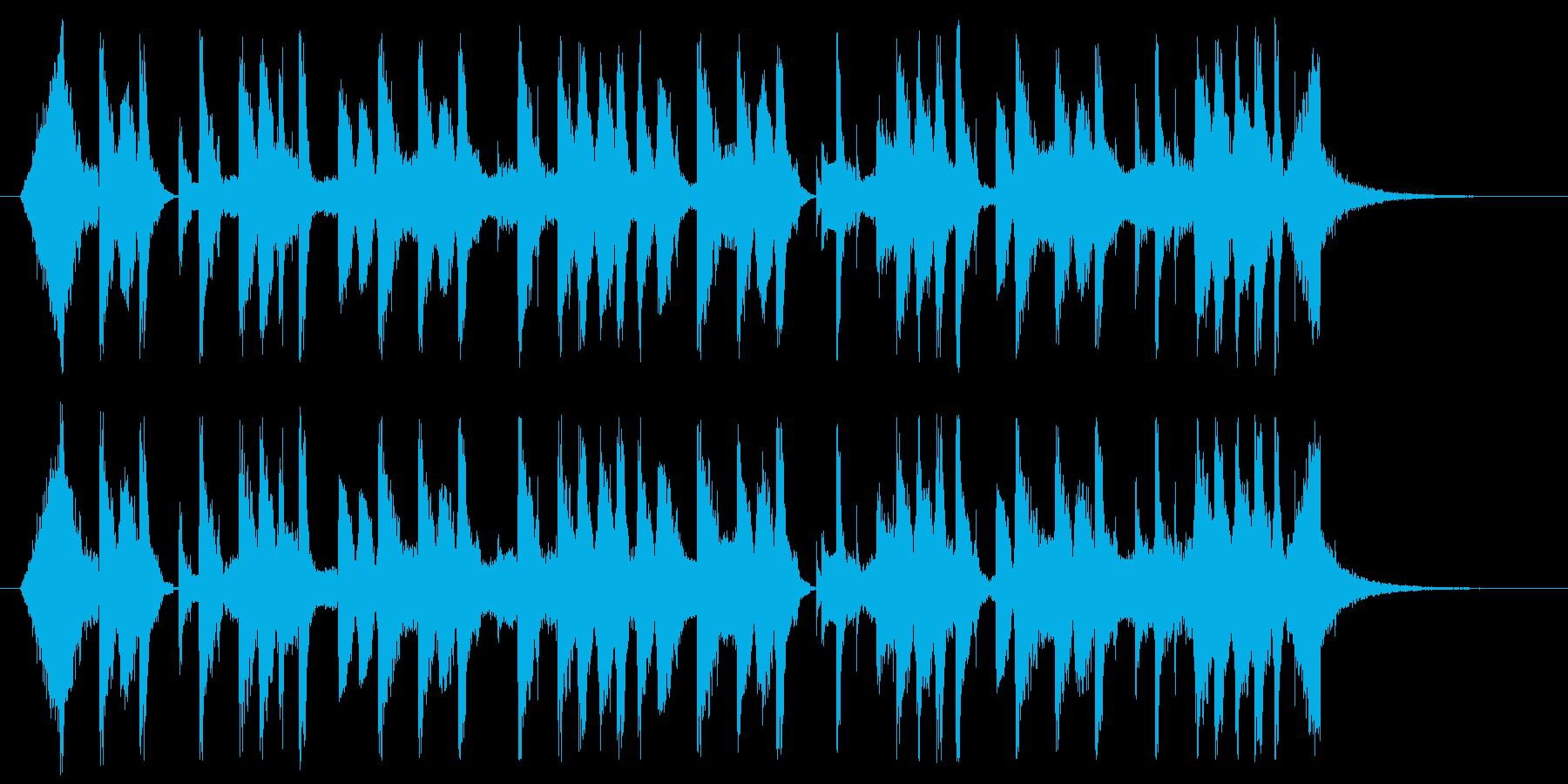 アメリカンポップなちょい長めジングルの再生済みの波形