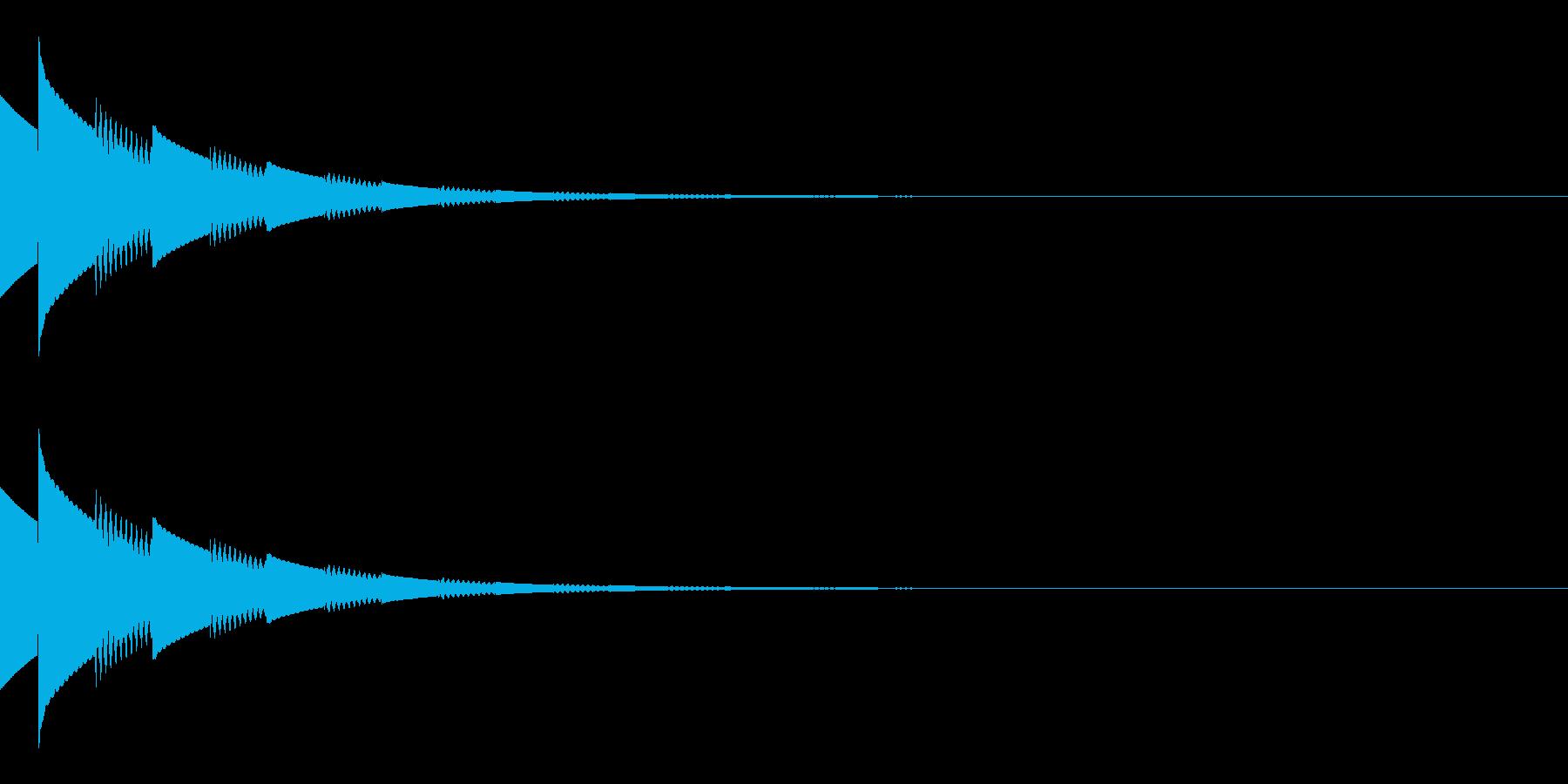 キラキラ(星/コイン/アイテム/エコー)の再生済みの波形