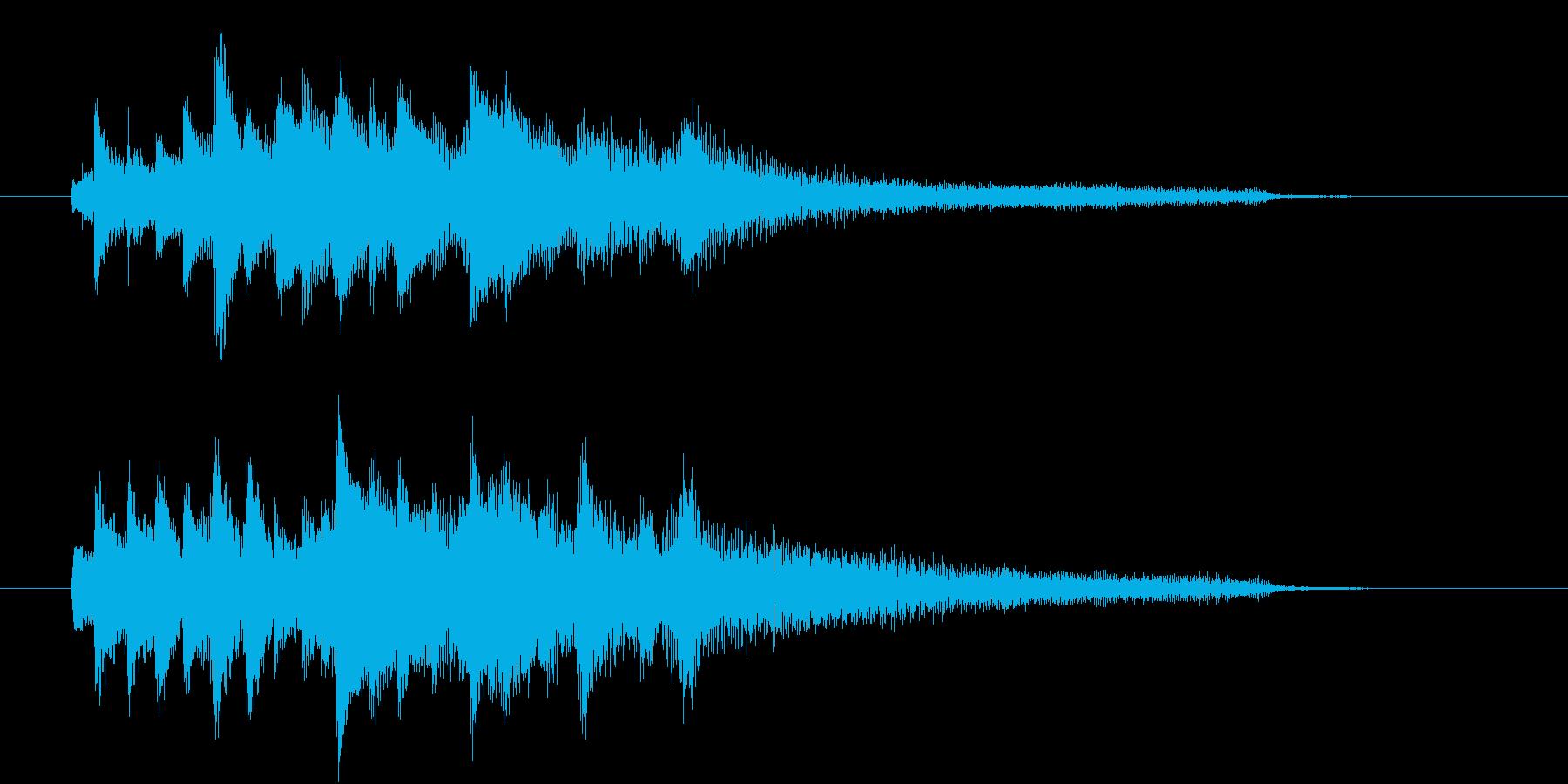 【生ピアノ】不思議でほっとする日常の再生済みの波形