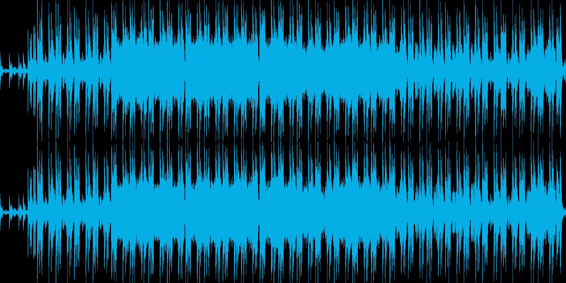 軽快な雰囲気の軽めのロックの再生済みの波形