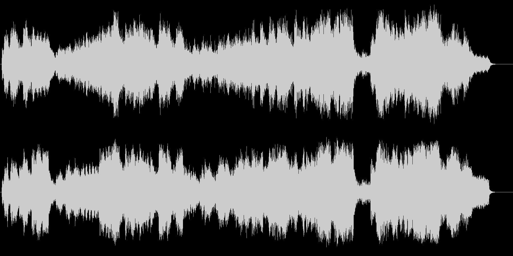 ストリングス効果によるフラットな映画音楽の未再生の波形