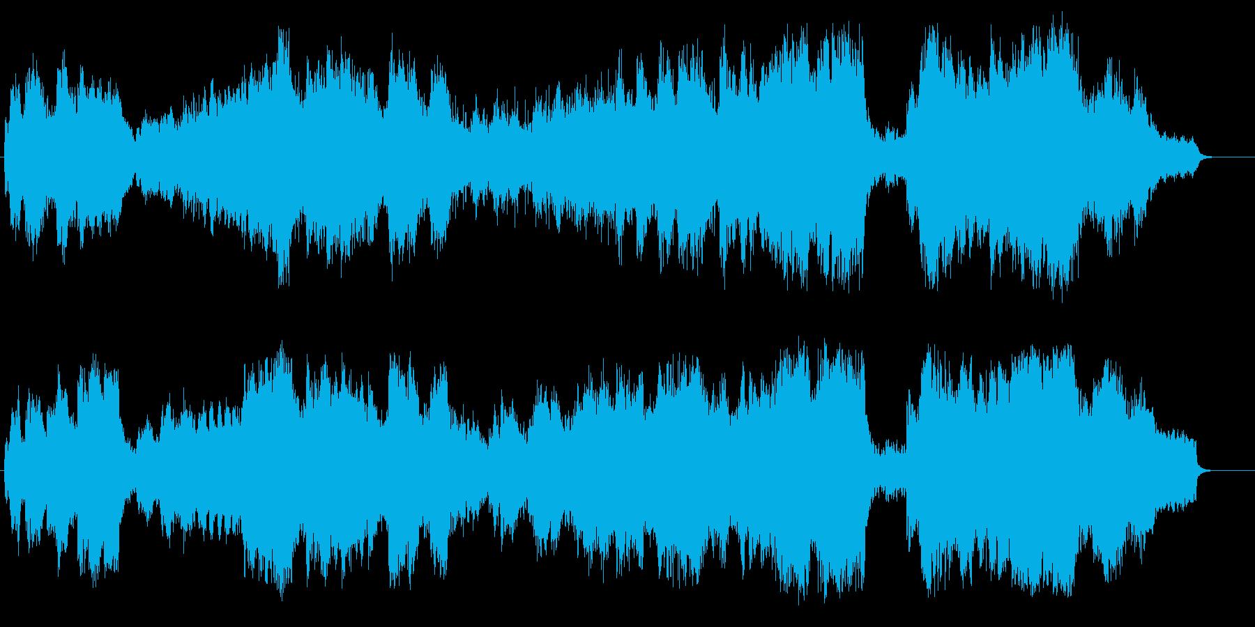 ストリングス効果によるフラットな映画音楽の再生済みの波形