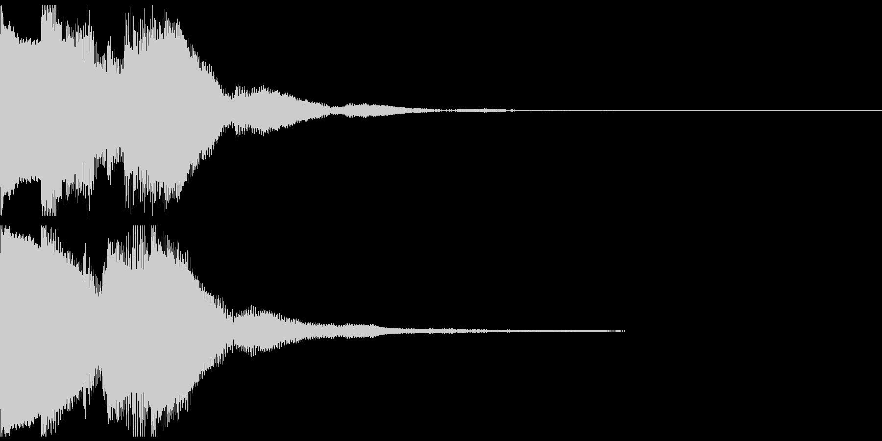 ピンポンピンポン 正解 派手目の未再生の波形