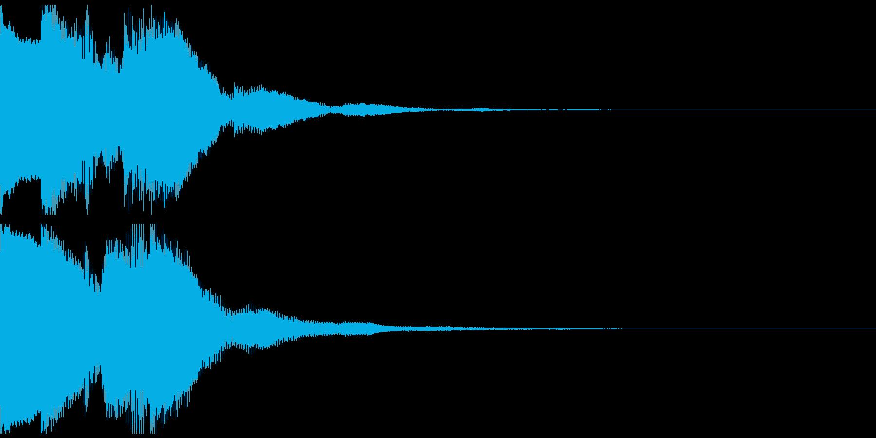 ピンポンピンポン 正解 派手目の再生済みの波形