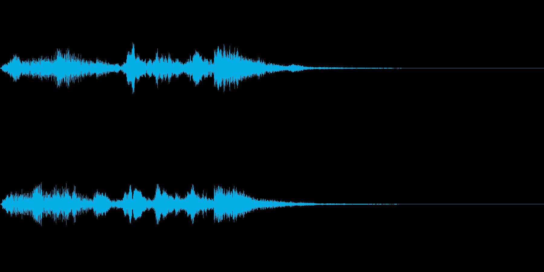 リコーダージングル、上るメロディの再生済みの波形