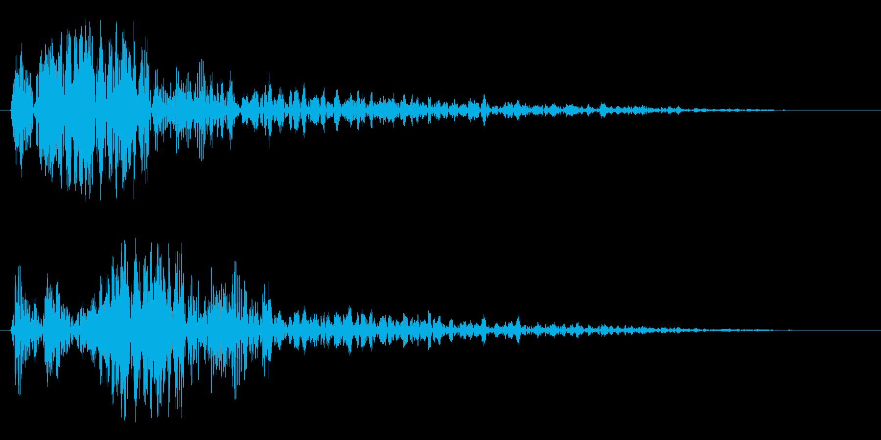 シュワーン(通過の音)の再生済みの波形