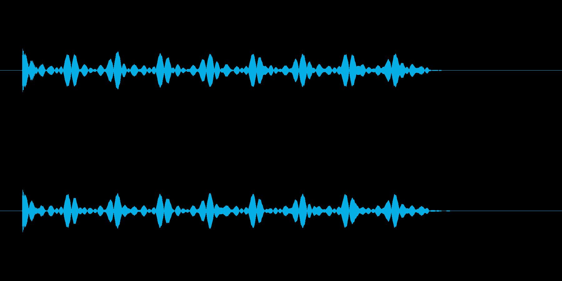 ゲージが溜まってそれを継続する音の再生済みの波形