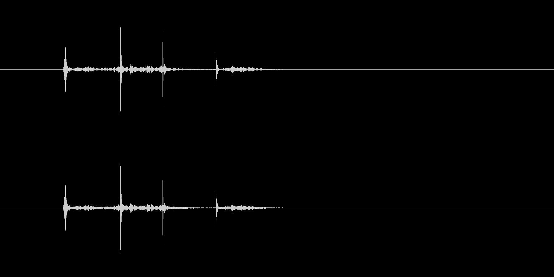ダブルクリック(カチッカチッ)の未再生の波形