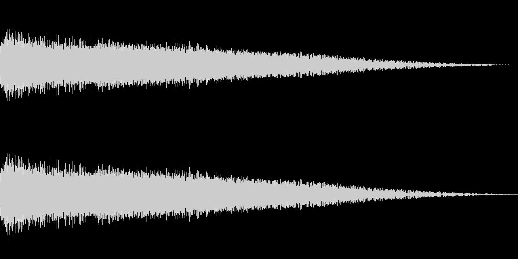 高速回転音の未再生の波形