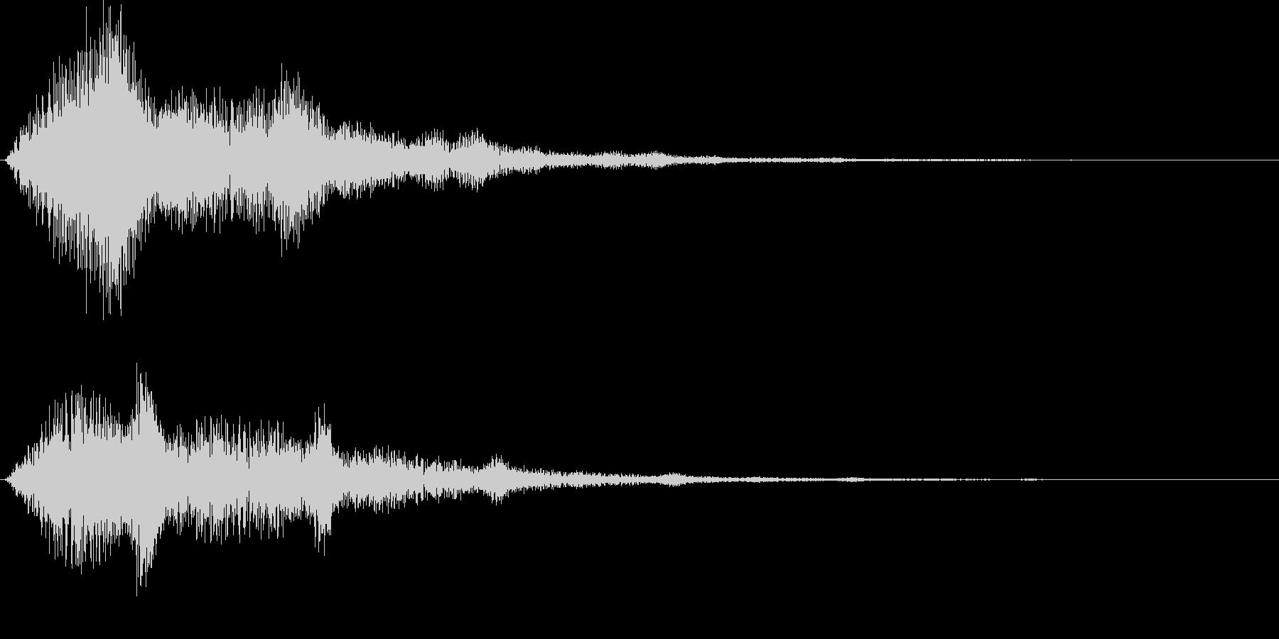 ハリウッド系サウンドロゴ ボタン押し系の未再生の波形