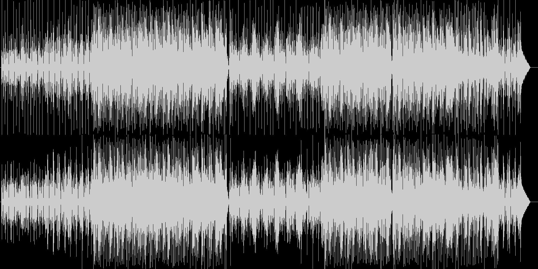 落ち付いたメロディーの安定感あるポップスの未再生の波形