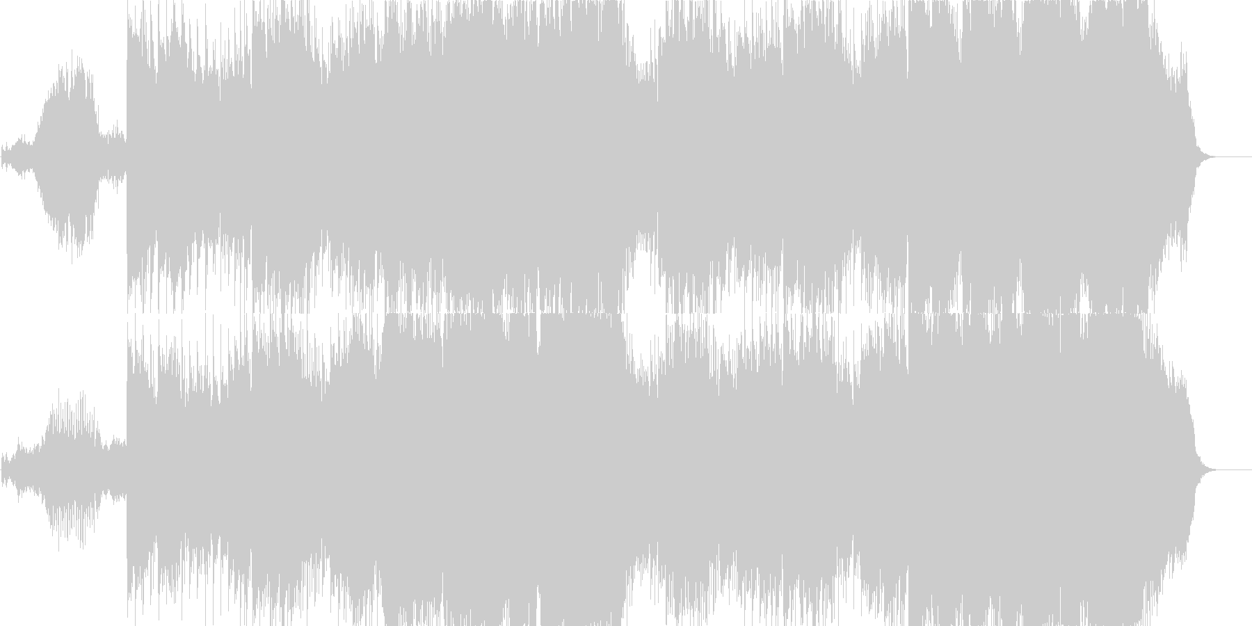 ピンクフロイド風の物悲しいBGMの未再生の波形