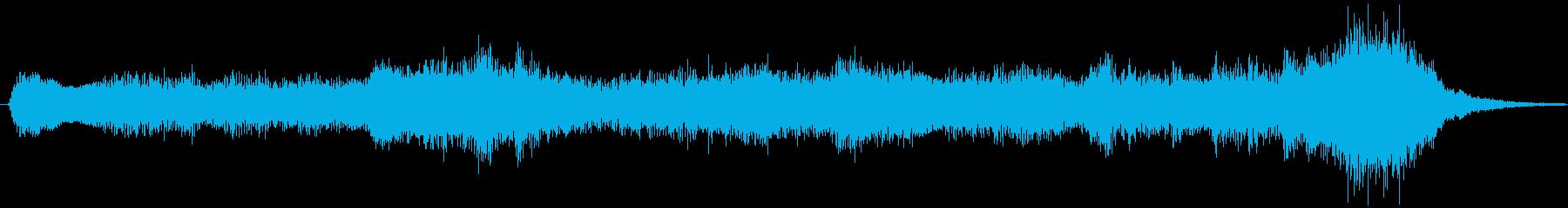 シリアスな場面を盛り上げるオーケストラの再生済みの波形