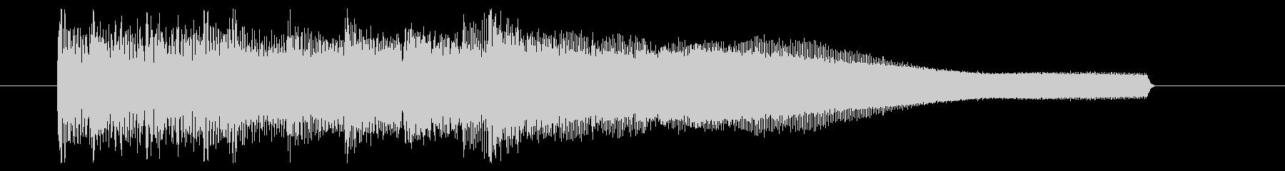 ラジオ等に使える明るめなジングルの未再生の波形