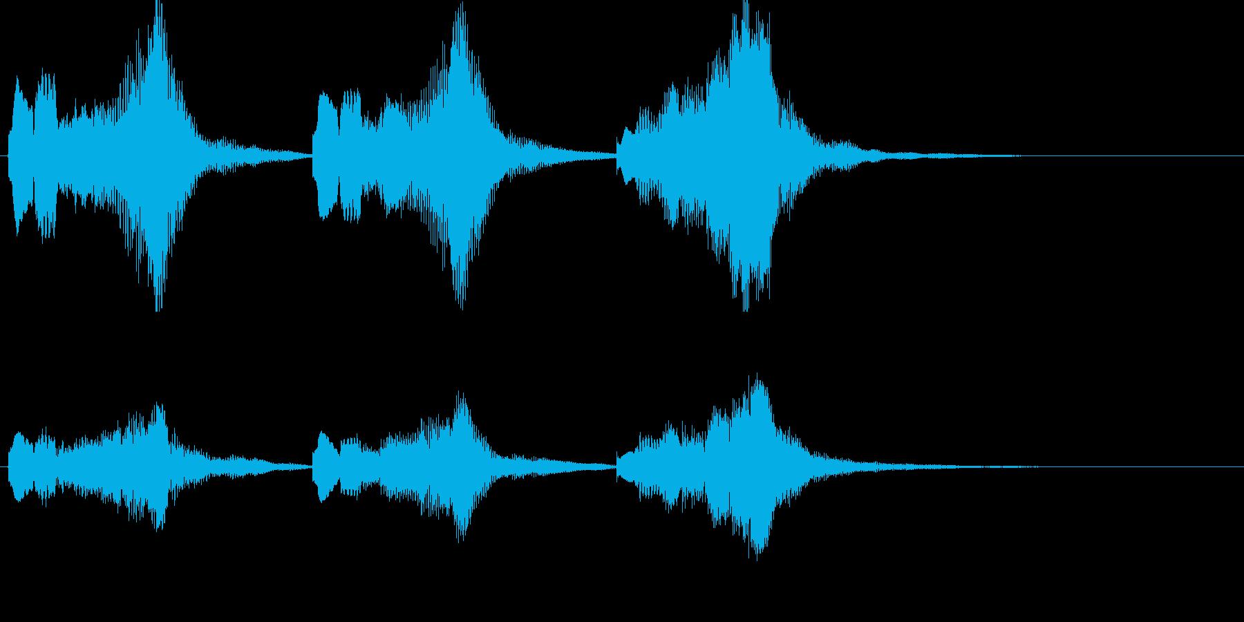 ファンタジー系の短いジングルの再生済みの波形
