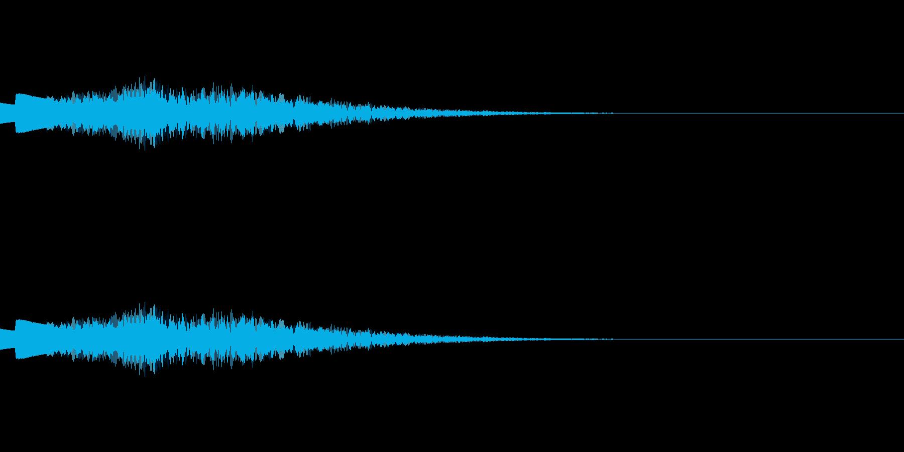 綺麗に輝く「キラン☆」ベル音6回連続音の再生済みの波形