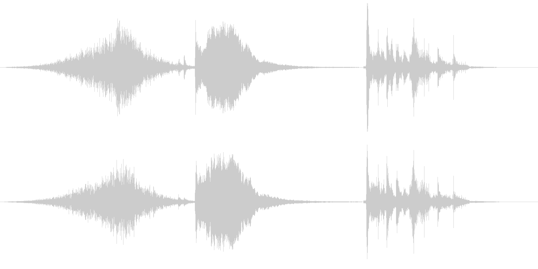 ピキピキシャキーンガシャーン(氷魔法)の未再生の波形