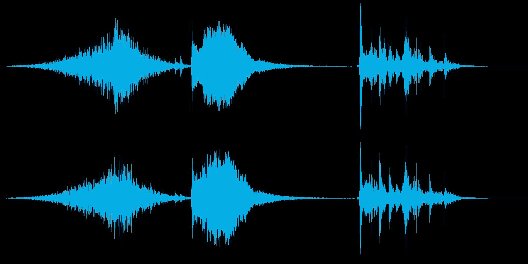 ピキピキシャキーンガシャーン(氷魔法)の再生済みの波形