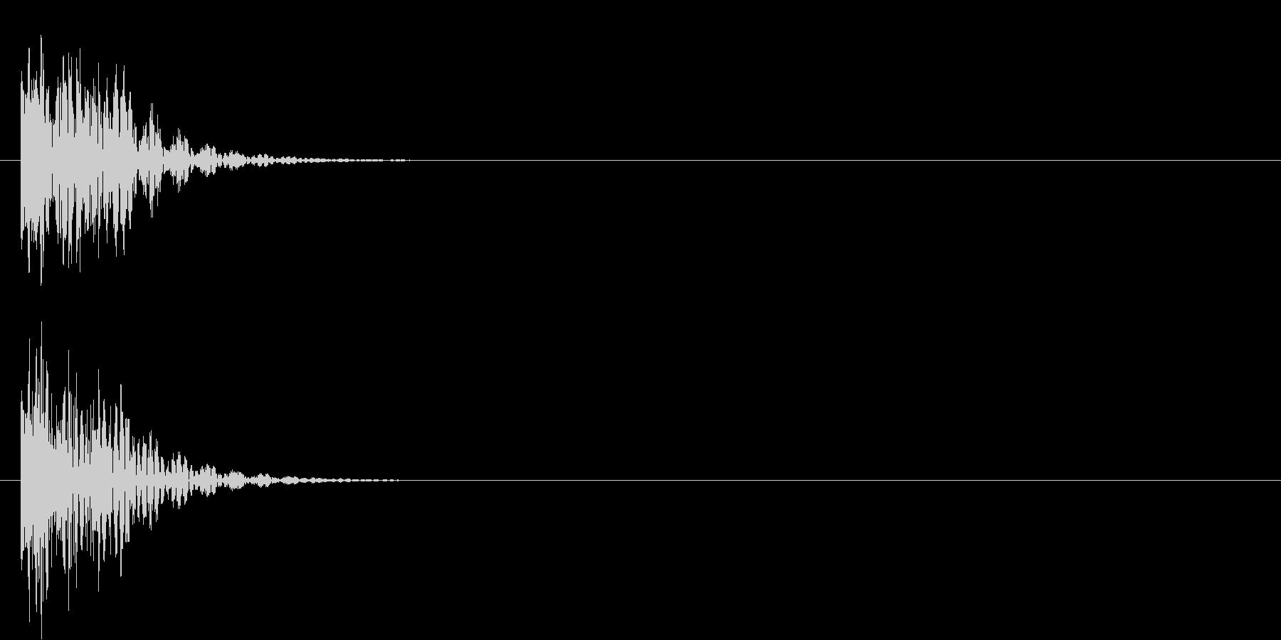ポンッ(ミス、エラー時)の未再生の波形