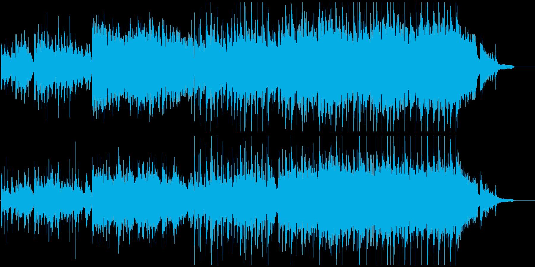 和風な日本の風景BGMの再生済みの波形
