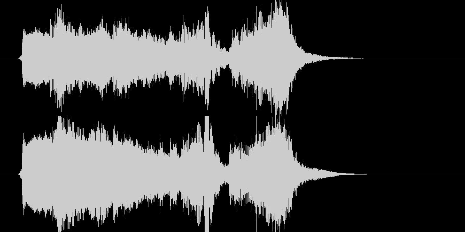 【ジングル】弦とピアノでアニメ風の幕開けの未再生の波形