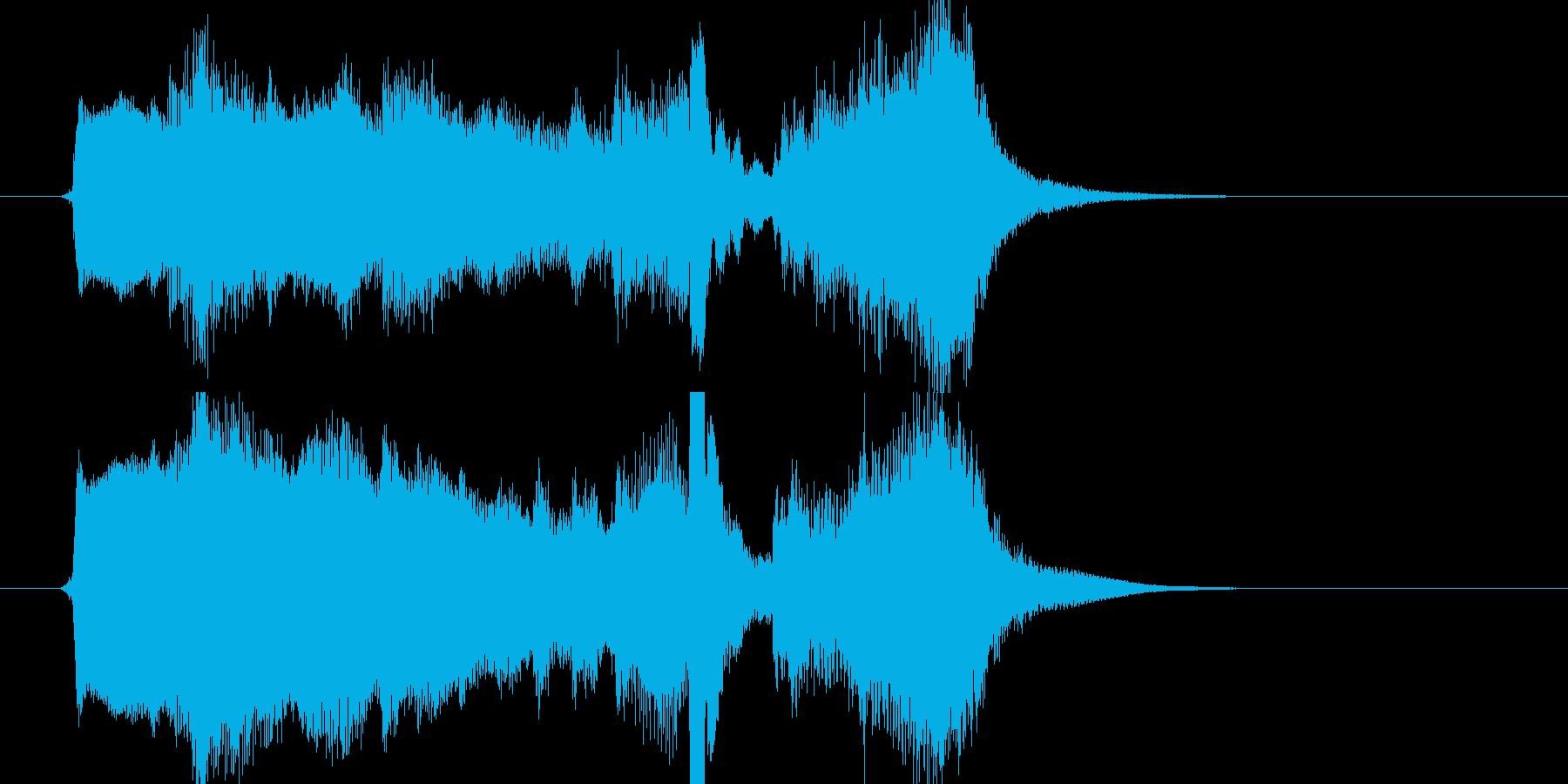 【ジングル】弦とピアノでアニメ風の幕開けの再生済みの波形