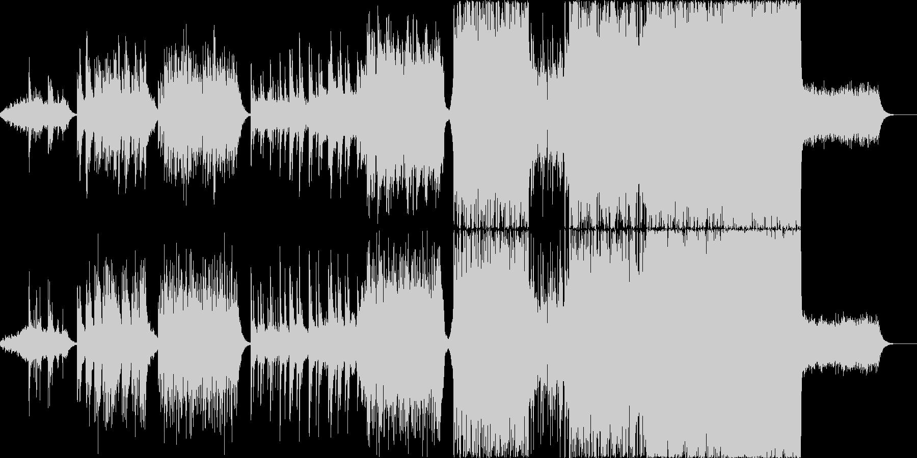 感動的なシーンを想定した楽曲ですの未再生の波形