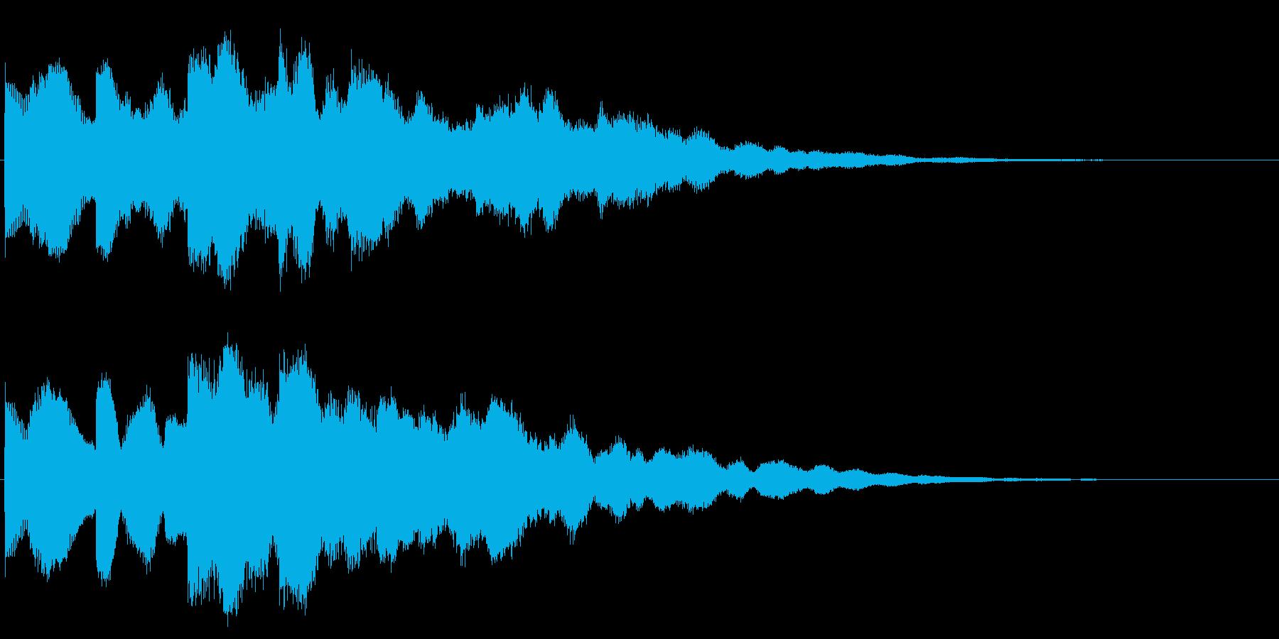 ベル ホラー系の不穏な効果音 怖い演出の再生済みの波形