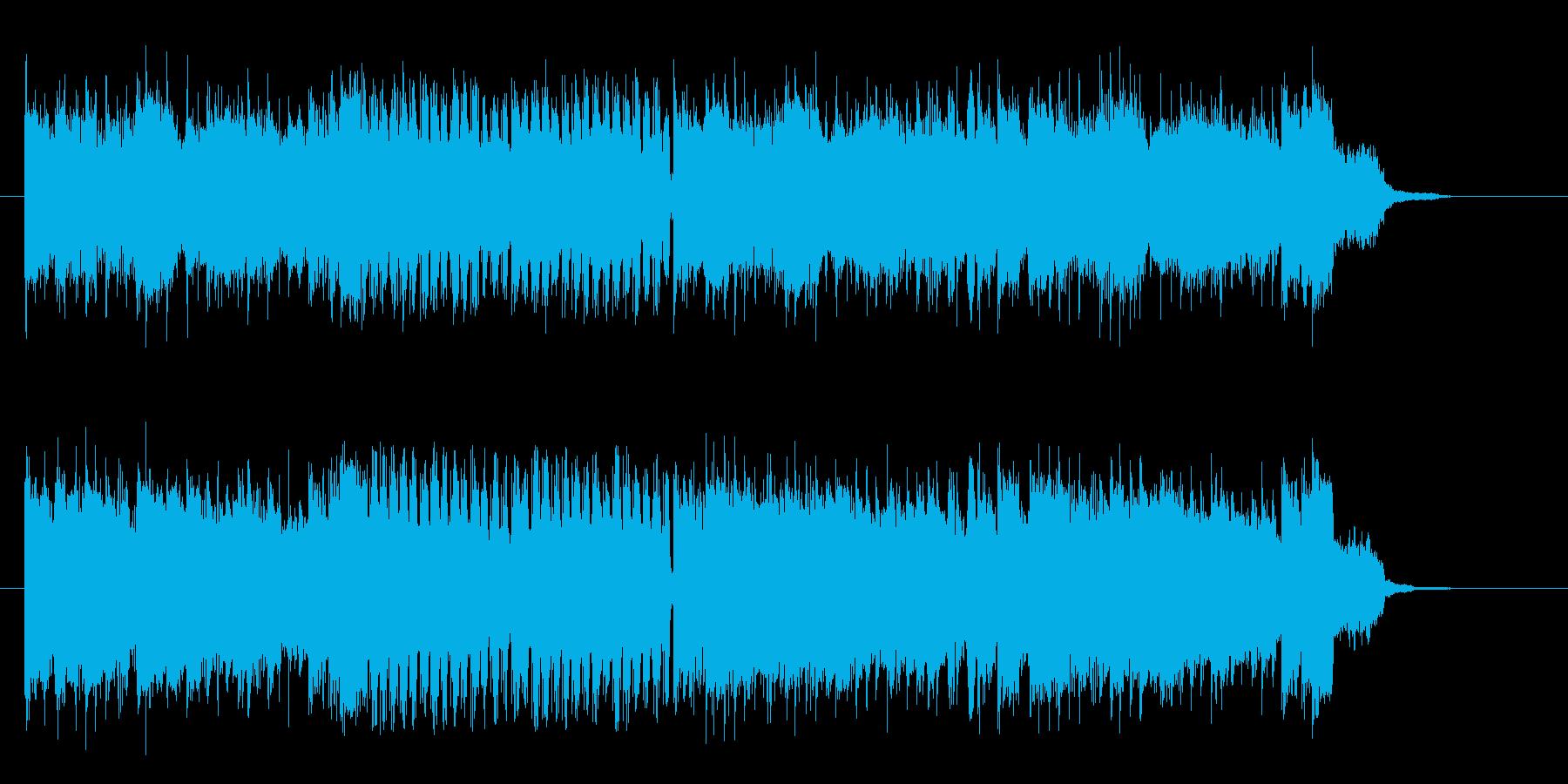 疾走感溢れるロックなエレキギターサウンドの再生済みの波形