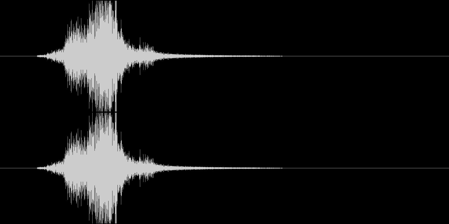 Katana 日本刀を鞘から抜く音 の未再生の波形
