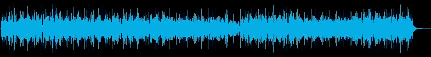 ポジティブBGM 優しく温かい響きの再生済みの波形