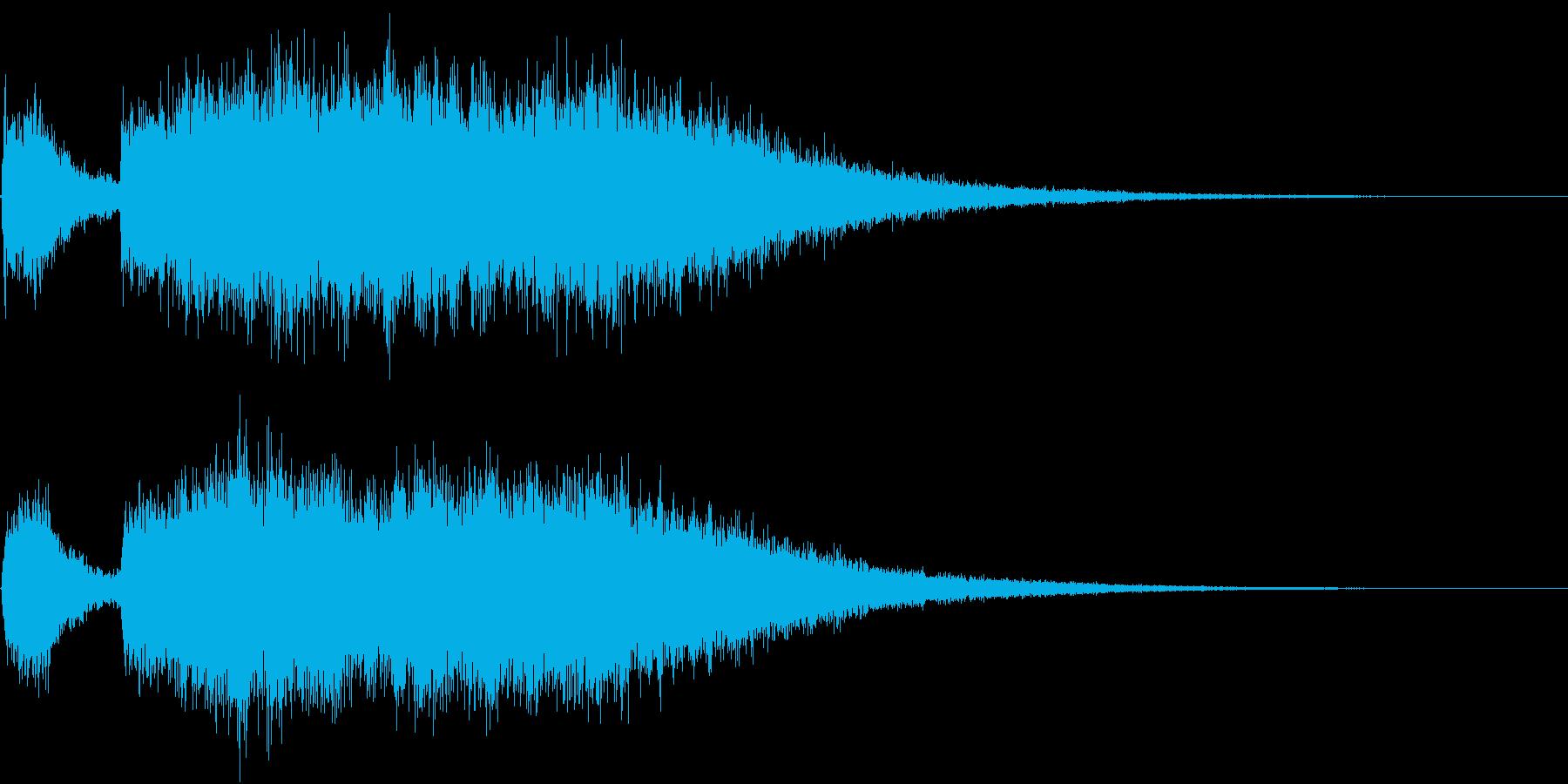 テッテレー!/達成/レベルアップSE2の再生済みの波形